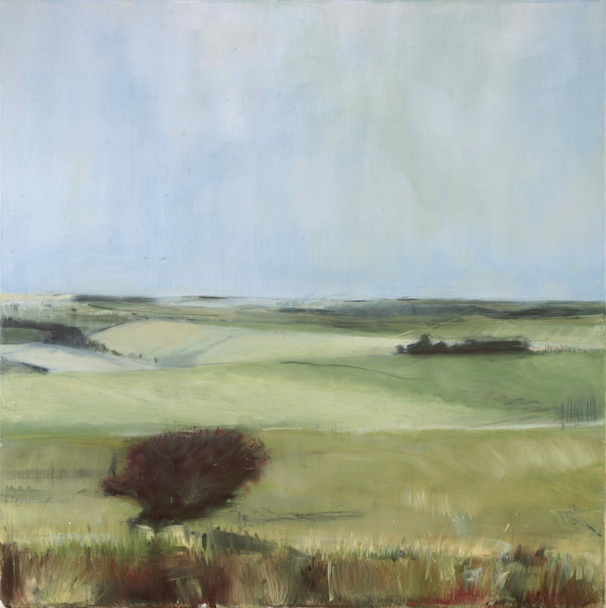 Towards Kingston, SOLD £1600, Oil, graphite, charcoal and pastel on canvas.