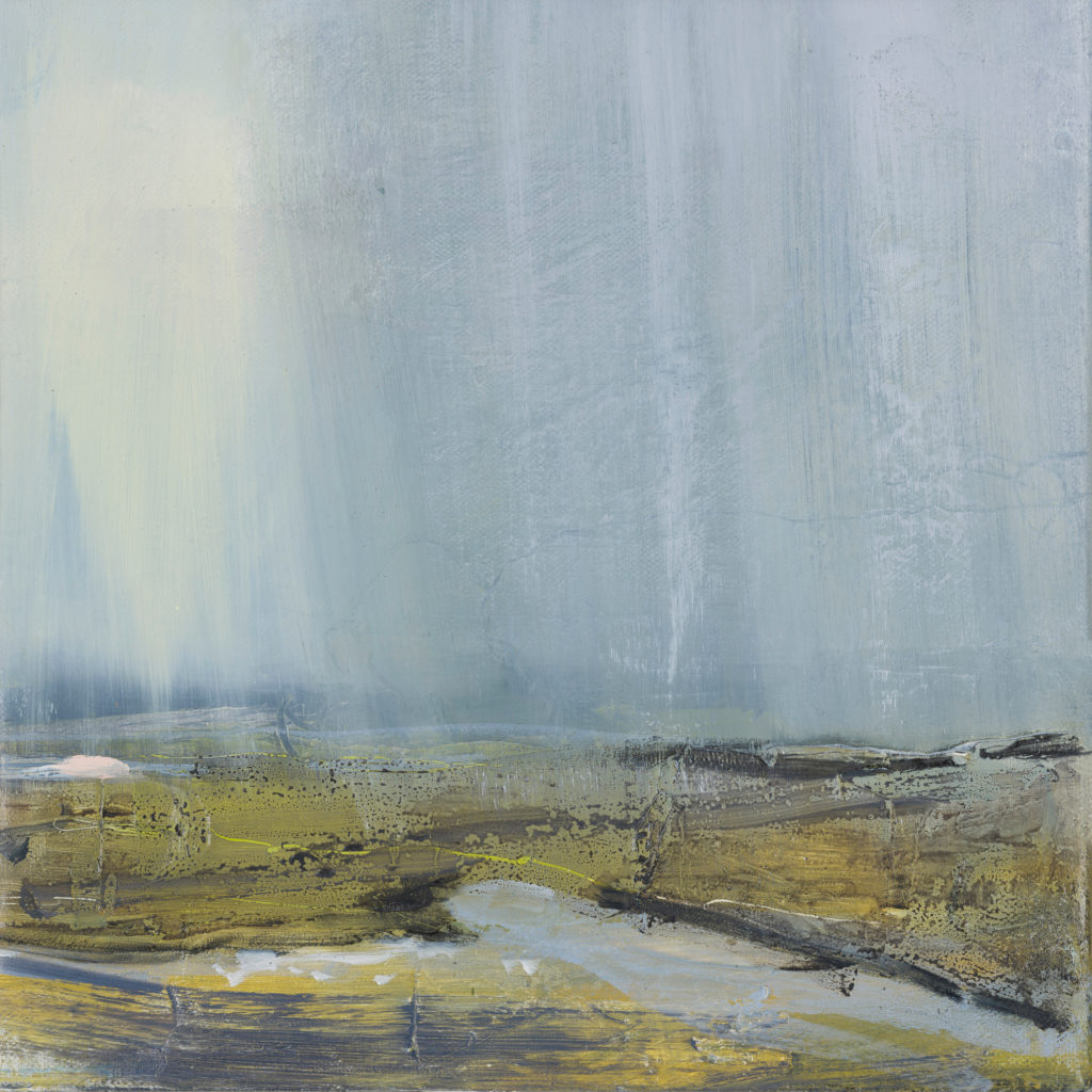 Cuckmere Haven 2, SOLD, £1100, Oil and charcoal on canvas, 30 x 30cm, framed size 44 x 44cm