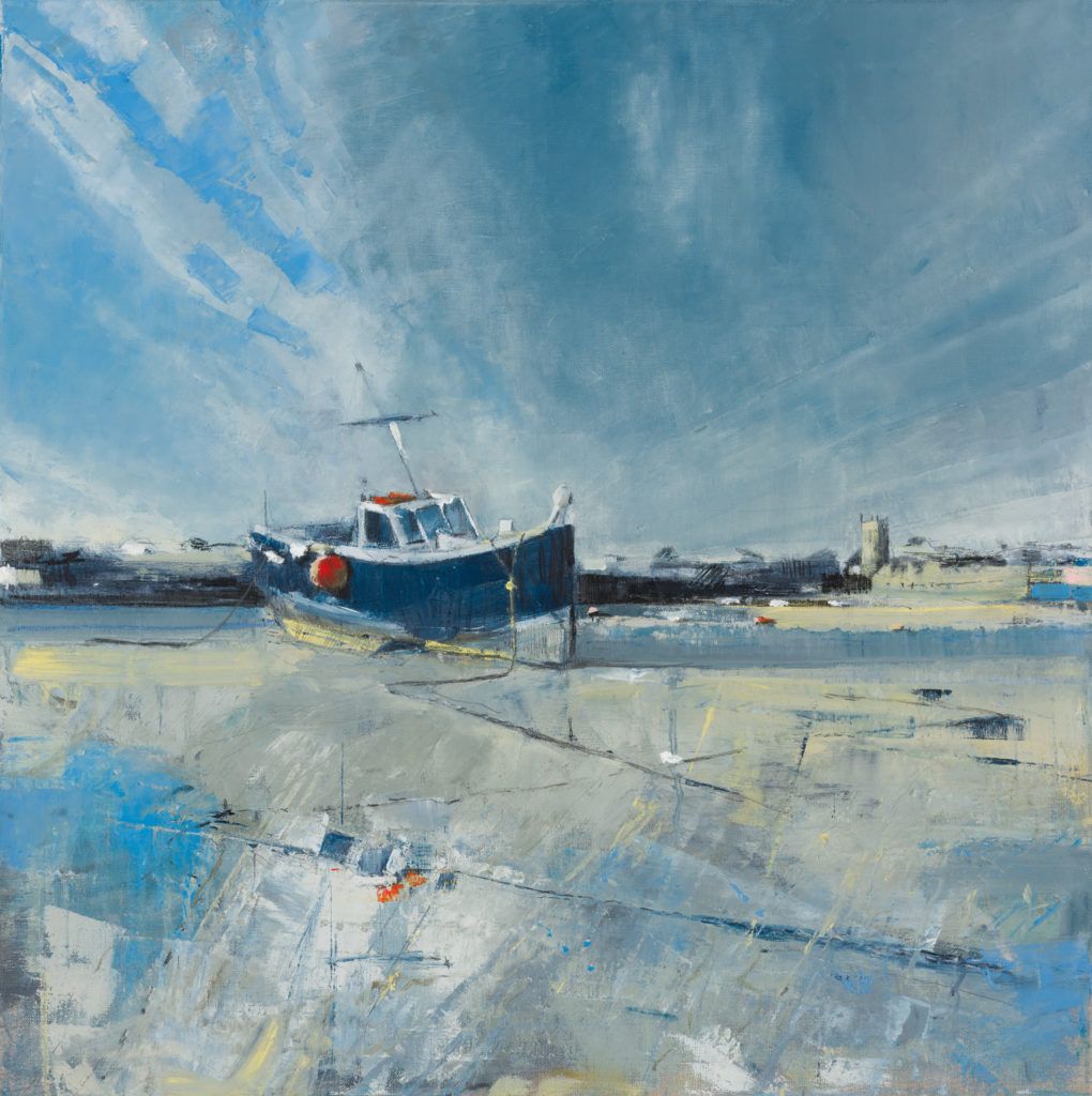 Low Tide, St. Ives, SOLD, Oil, graphite, chacoal and pastel on linen, 60 x 60cm