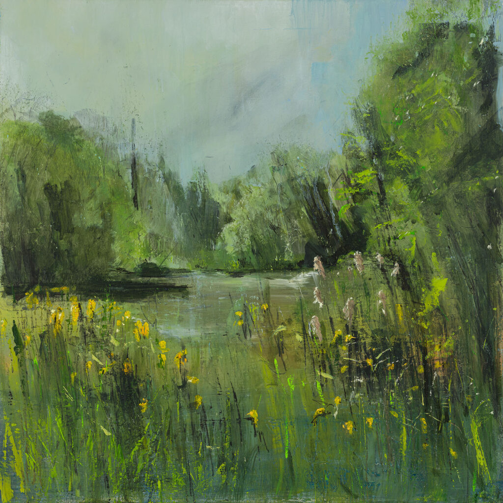 Bolt Wood, Chiddingly,  £1500, Oil, graphite, charcoal and pastel on board, 60 x 60cm.